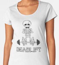 Deadlift Gym Skeleton Premium Scoop T-Shirt
