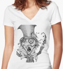 Simply mad Women's Fitted V-Neck T-Shirt