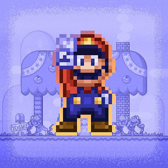 Peace Mario by likelikes