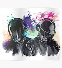 Daft Punk Portrait Poster