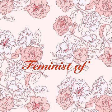 feminist af on pink background by anneamanda