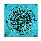 Turquoise mandala by AnitaShree