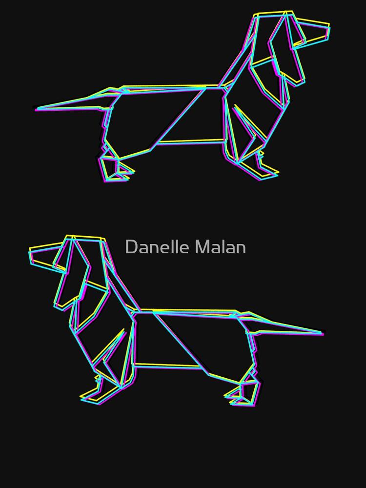Origami Dachshund Cmyk Mens Premium T Shirt By Dwuff Redbubble