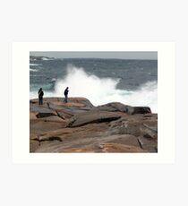 Wave Watchers Art Print