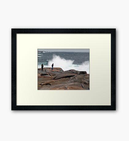 Wave Watchers Framed Print