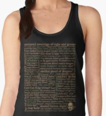Shakespeare Insults Dark - Revised Edition (by incognita) Women's Tank Top