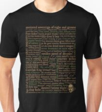 Shakespeare Insults Dark - Revised Edition (by incognita) Unisex T-Shirt
