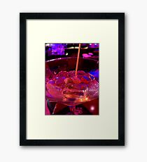 Martini Madness : Up Close and Personal ... Framed Print
