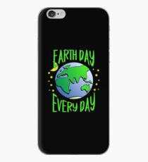 Cute Earth Day Hippie Earth in Space #earthday iPhone Case