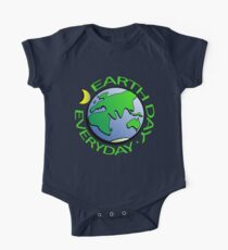 Earth Day Every Day, Save The Planet For Our Children Cute Earthy Hippie #earthday One Piece - Short Sleeve