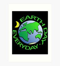 Earth Day Every Day, Save The Planet For Our Children Cute Earthy Hippie #earthday Art Print
