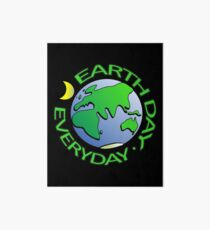 Earth Day Every Day, Save The Planet For Our Children Cute Earthy Hippie #earthday Art Board