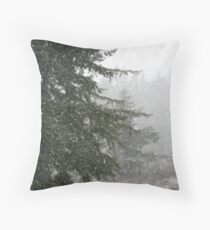 """""""Today's Snow Storm"""" Throw Pillow"""
