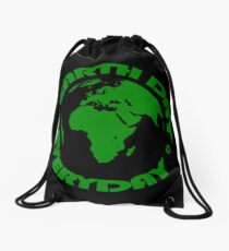 Earth Day Every Day, Save The Planet For Our Children #earthday Drawstring Bag