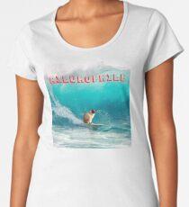 AILUROPHILE - Surfing Cat Women's Premium T-Shirt