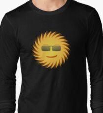 Cool Sun With Sunglasses Design Long Sleeve T-Shirt