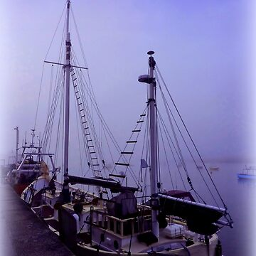 Boats in Morning Mist by Sita