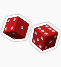 Red Dice Sticker