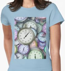 clock Women's Fitted T-Shirt
