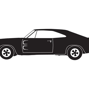 Heartbeat / Pulse - 1968 Dodge Charger Silhouette  by SandpiperDesign