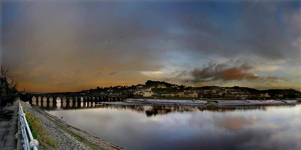 Bideford Quay Panoramic by Robert Kendall