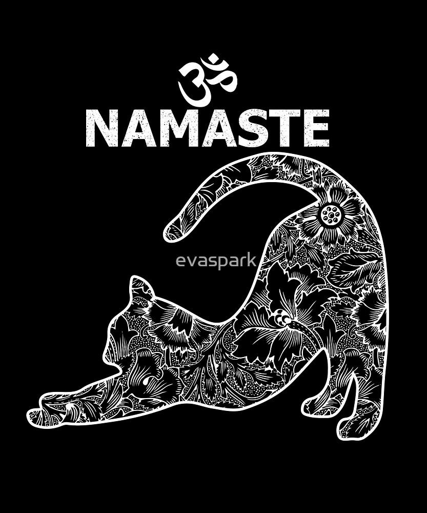 c6610bacd Cat Yoga Namaste OM - Funny Yoga T-shirt for Women
