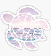 Sea Turtle Pink Beach Sticker