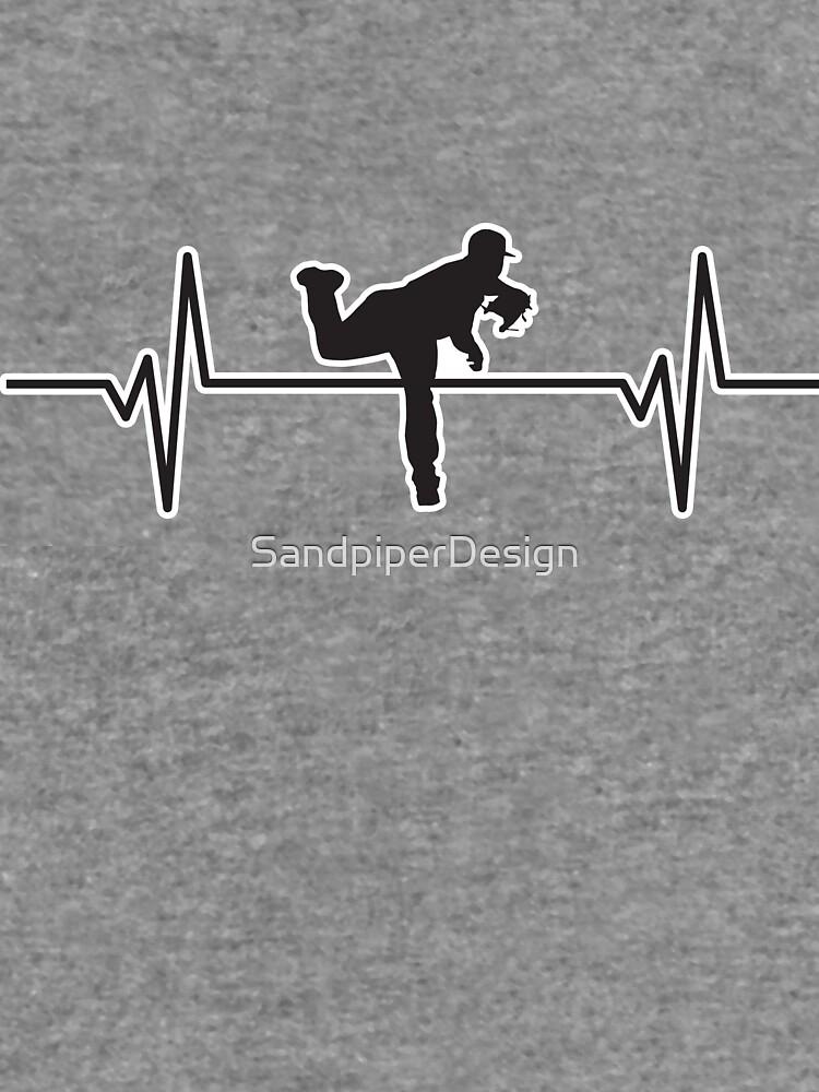 heartbeat pulse baseball player pitcher silhouette