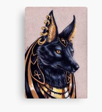 Anubis - Egyptian Jackal God Canvas Print