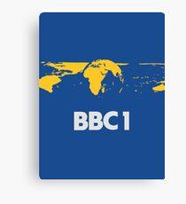 Retro BBC1 world globe ident Canvas Print