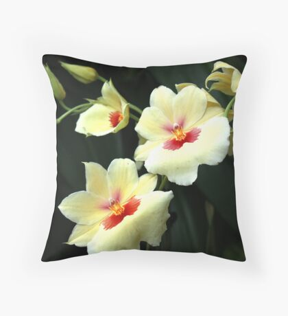 ... with delightful grace ... Throw Pillow