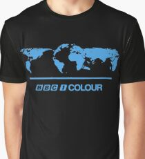 Retro BBC 1 Colour globe graphics Graphic T-Shirt