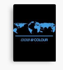 Retro BBC 1 Colour globe graphics Canvas Print