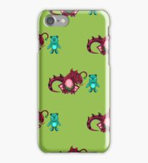 seamless pattern with dragon and the bear iPhone Case/Skin