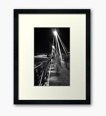 Hungerford / Golden Jubilee Bridge Framed Print