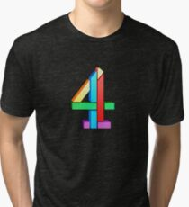 Channel 4 retro logo  Tri-blend T-Shirt