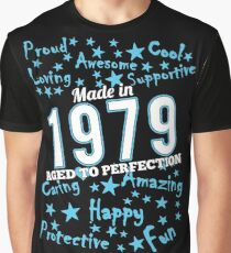 Made In 1979 - Aged To Perfection Graphic T-Shirt