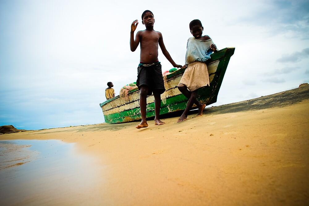 Village boys, Nkhotakota, Malawi by Tim Cowley