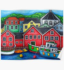 Colours of Lunenburg, Nova Scotia Poster