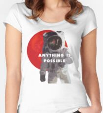 Anything Is Possible Women's Fitted Scoop T-Shirt