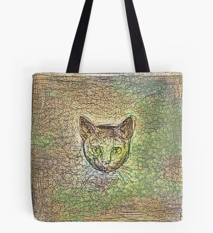 Cat on his way home Tote Bag