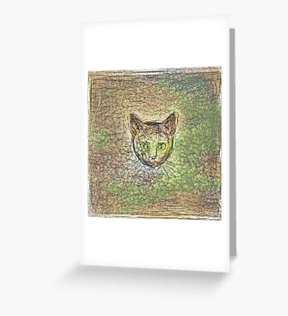 Cat on his way home Greeting Card
