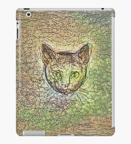 Cat on his way home iPad Case/Skin