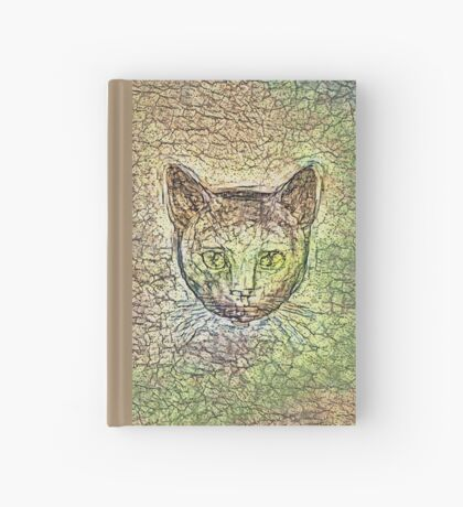 Cat on his way home Hardcover Journal