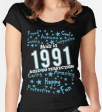 Made In 1991 - Aged To Perfection Women's Fitted Scoop T-Shirt