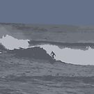 Thurso East Surfer, Scotland by ElviraTSquirrel