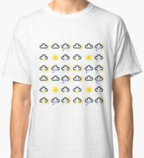 Weather forecast symbols pattern Classic T-Shirt