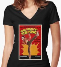 The Kick of the King (Eric Cantona) Women's Fitted V-Neck T-Shirt