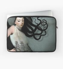 Girl with a sailing ship Laptop Sleeve
