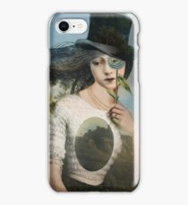 Portrait 11 with Hat iPhone Case/Skin
